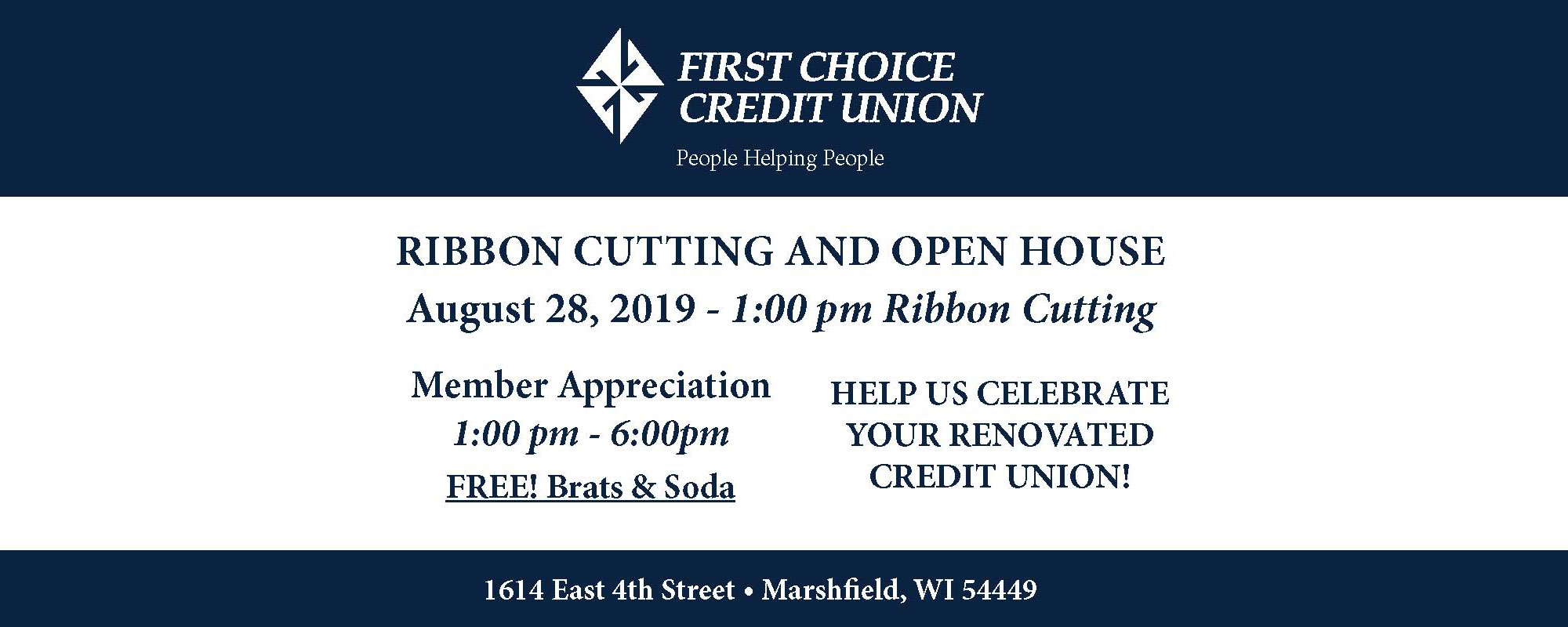 Ribbon cutting and open house August 28 at 1pm